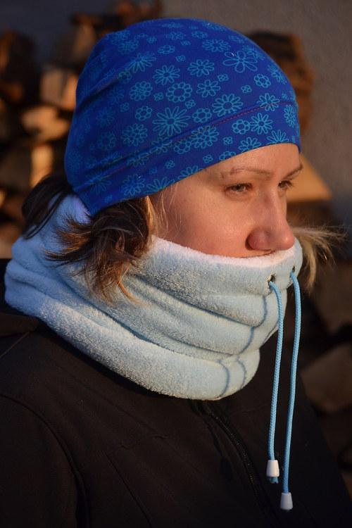 Teplý zimní nákrčník....
