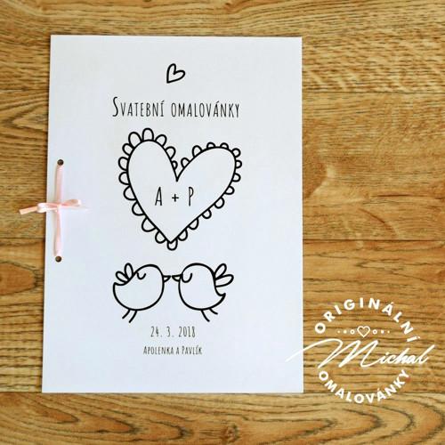 Svatební omalovánky - TYP 33