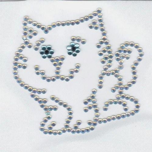 Kočička mlsoun - nažehlovací motiv
