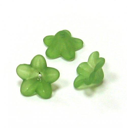 Květinka - zelená-3ks