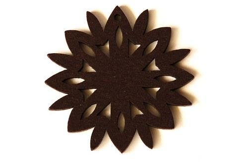 dřevěná sluníčka- tmavě hnědá