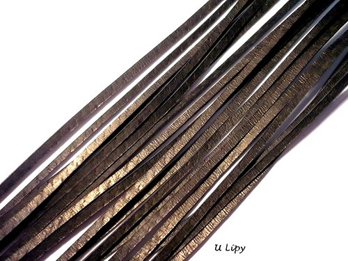 Kožený řemínek 2 mm, 110 cm - černý