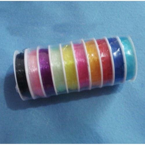 Elastické lanko - Světle modrá - 0,8 mm