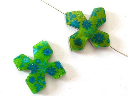 0705015/Perleťový čtyřlístek zelený s květy