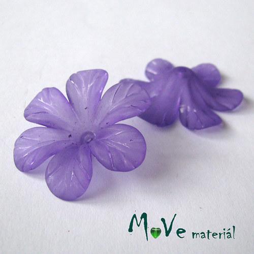 Akrylový květ 30mm, 2ks, tm. fialový