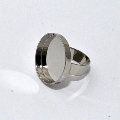 Kovový základ na prstýnek kolečko / stříbrný