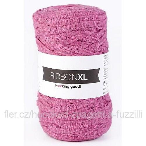 Hoooked RibbonXL - růžová (130 m)