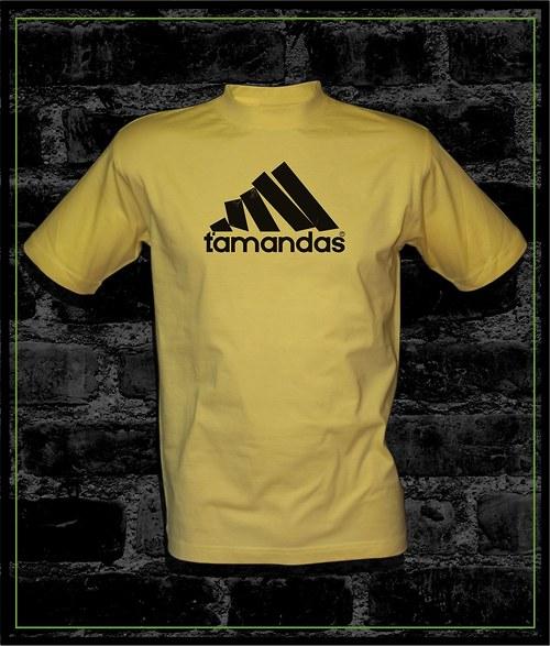 Pánské světle žluté tričko Ťamandas