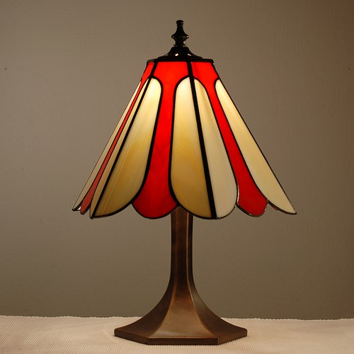 Tulipán -  lampa tiffany