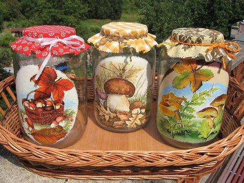 sklenice na houby