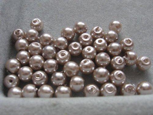 Vosková perla - platinová 5 mm / 20 ks