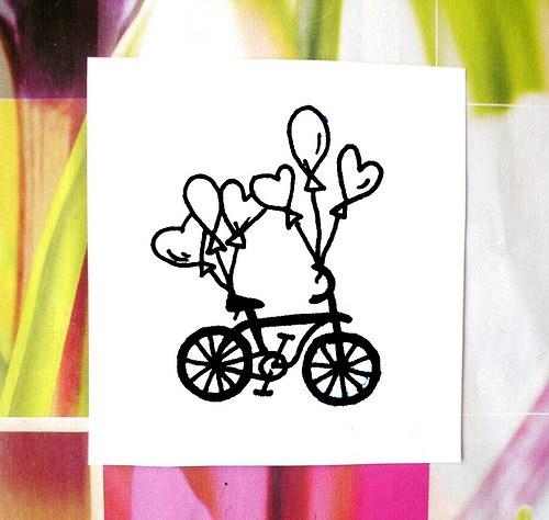 Svatební kolo s balónky... Omyvatelné razítko.