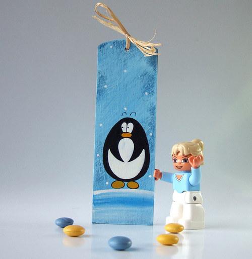 snowboard pro trpaslíka - modrý se zmrzlým krtkem