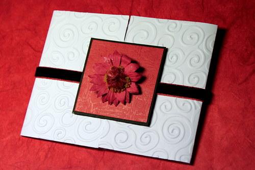 Svadobné oznámenie - biele so semišovou stuhou