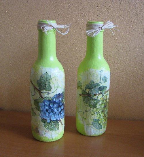 dekorační láhve VÍNO