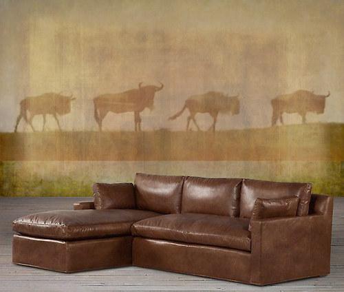 Luxusní vliesová tapeta ,,Four wildebeest,,