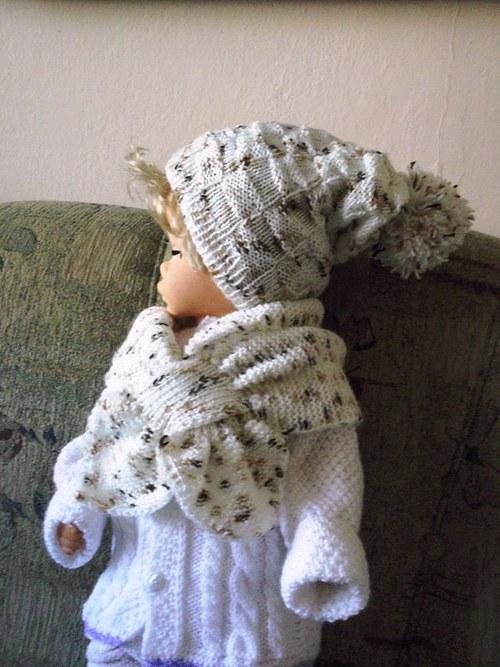 Dětská souprava šály a čepice