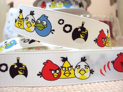 Stuha rypsová š.22 mm: Angry Birds