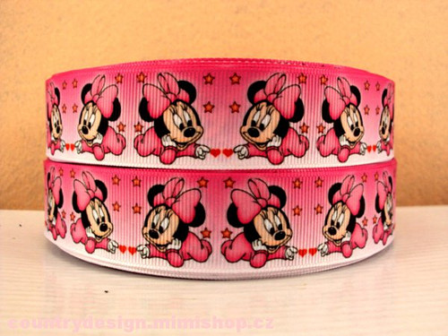 Stuha rypsová š.25 mm: Minnie Mouse