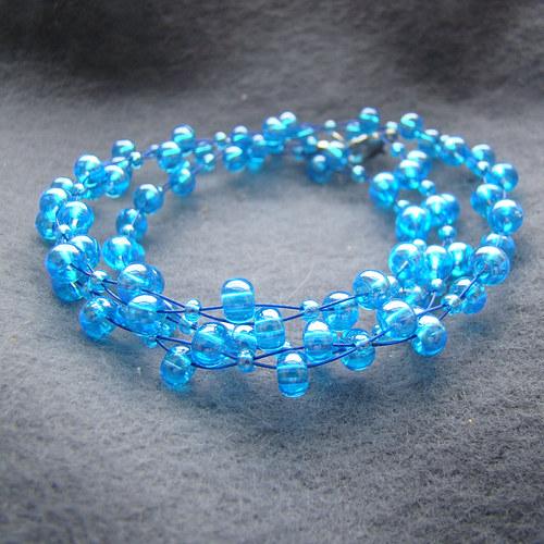 náhrdelník modrotyrkysový