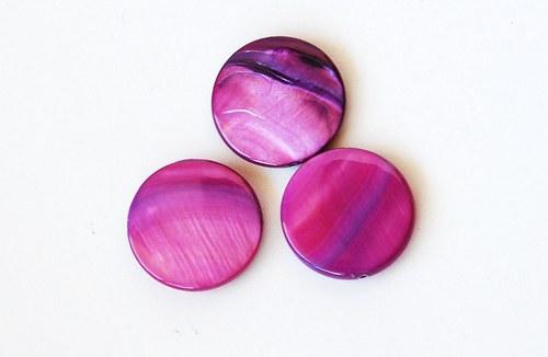 perleťové kolečko 20mm- fialové