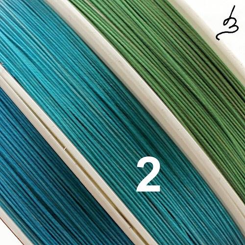 Ocelové lanko tyrkysové 0,45, II. jakost