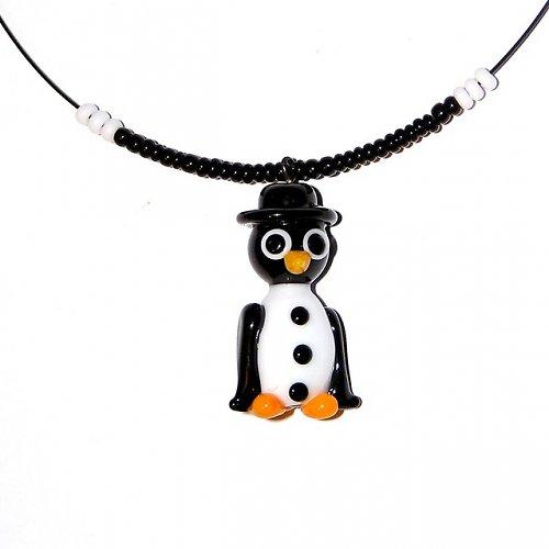 Tučňák ženich - vinutá perle