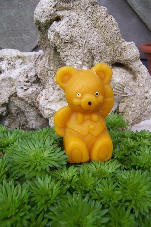 Svíčka medvěd 100% včelí vosk