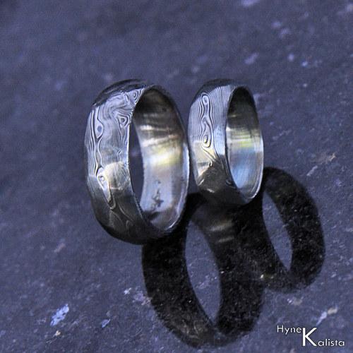 Snubní prsten damasteel - Rocksteel