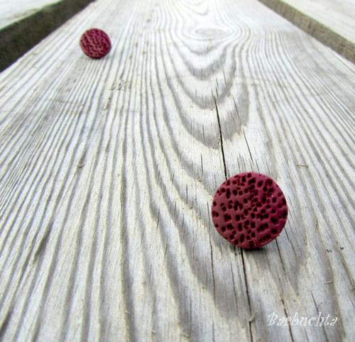 Náušnice Červené Víno