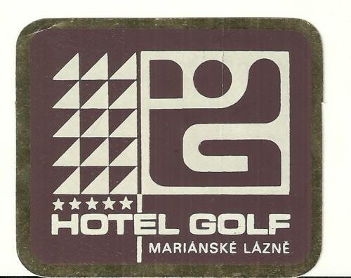 Hotelové nálepky styl Brusel Hotel Golf