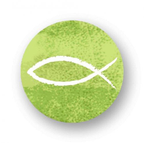 Placka s rybkou na zeleném podkladu