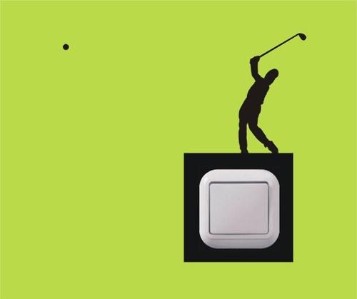 Samolepka k vypínači - Golf