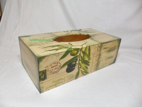 Olivová krabička na kapesníky