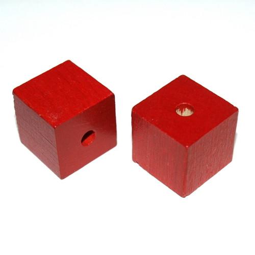 Dřevěné korálky Kostky 20mm Extra GAMEWA - 6ks