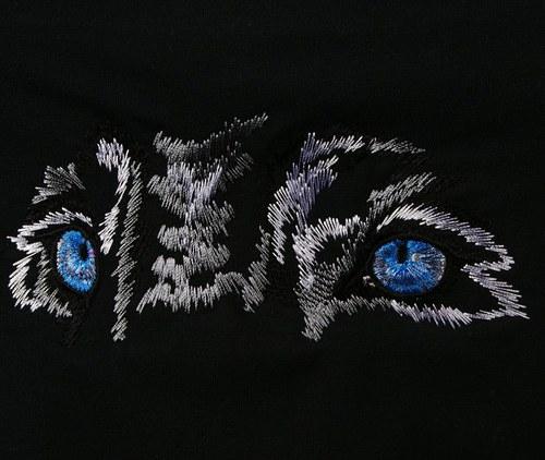 Dámské tílko+ výšivka modré oči vlka