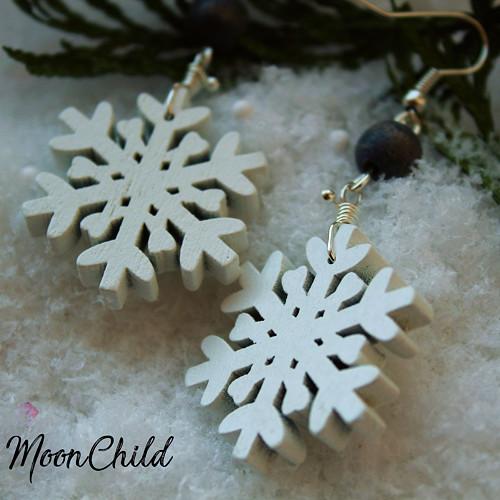Snowflake Gray - náušnice