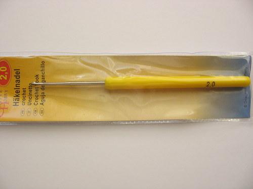 Háček pletací 2,0 mm s ručkou
