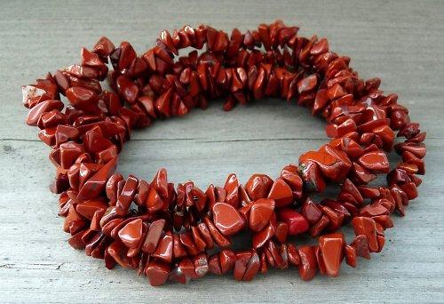 Jaspis červený, návlek cca 20 cm