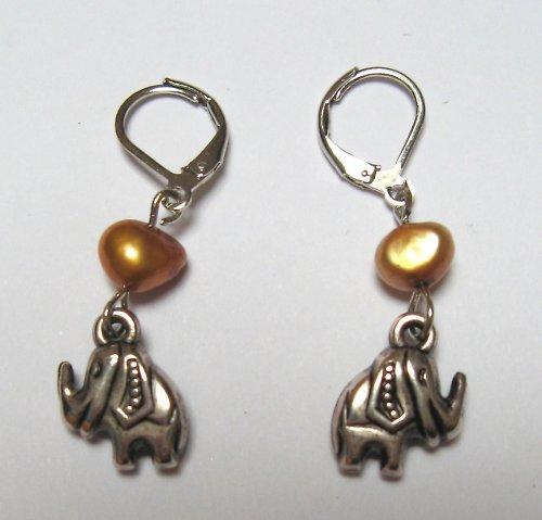 Sloni ve zlaté  - náušnice