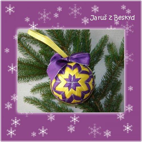 Vánoční koule (žlutá a fialová)