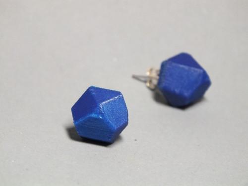 Náušnice krystal nobble blue
