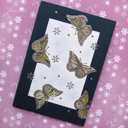 Sněhové vločky jako stříbrní motýlci ... -  přání