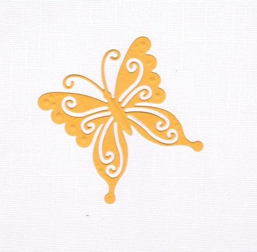 Motýlek - žlutý výsek (1 ks)