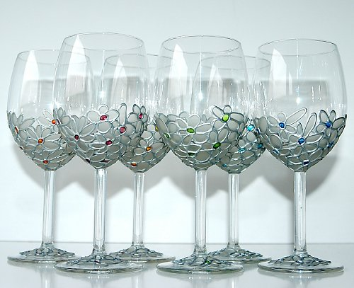 Sklenice na víno-ledové