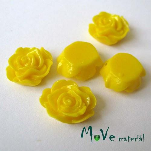 Kabošon květ lesklý A3 - resin - 2ks, tm. žlutá