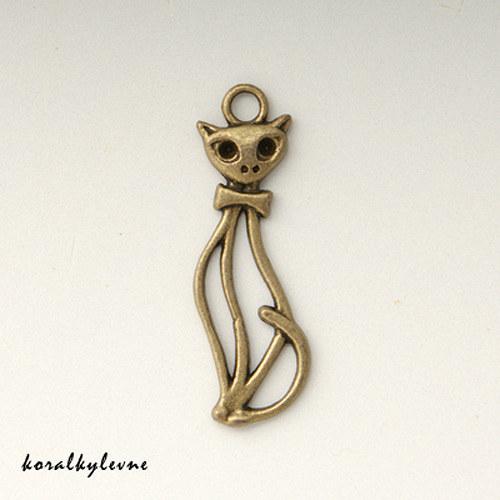 Přívěsek kočka bronz