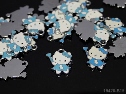 19428-b15 Přívěšek Kitty modrá kouzelnice