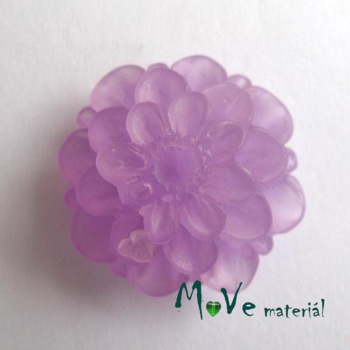 Kabošon květ resin/6ks/fialový./II. jakost