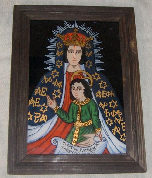 podmalba - Klatovská Madonna